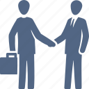 handshake, partnership, broker, real estate agent, business deal icon