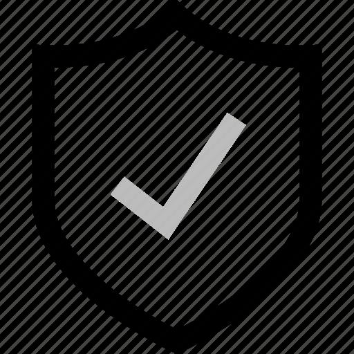 checkmark, good, ok, safe, secured, shield icon