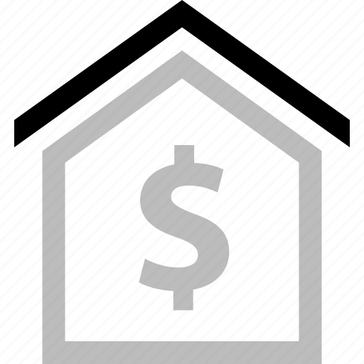 dollar, home, house, money, roof, sign icon