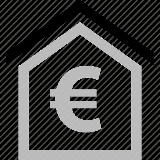 estate, euro, home, money, real icon