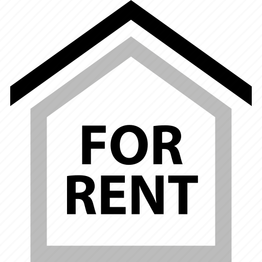 for, forrent, home, house, rent, renting, sign icon