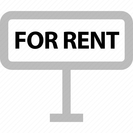 forrent, rent, renting, sign, tenant icon