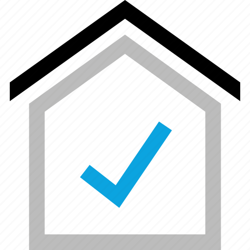 approved, checkmark, home, ok icon