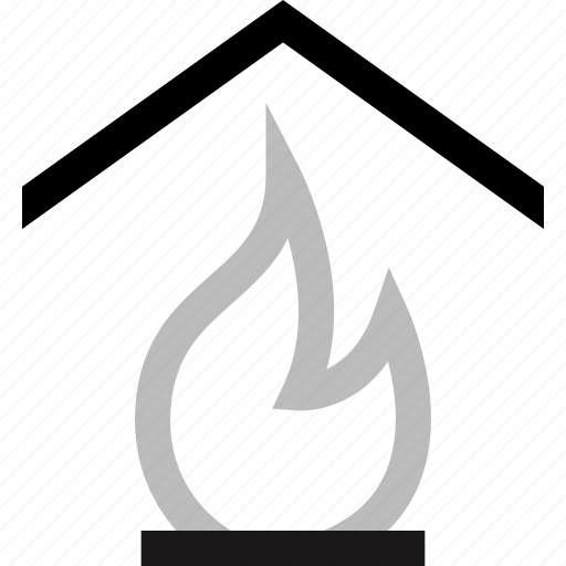 corner, fire, fireplace, home, house icon