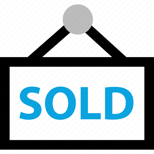 buying, home, house, out, sign, sold icon