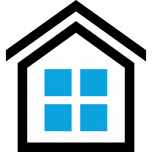 home, house, investment, rooftop, windows icon