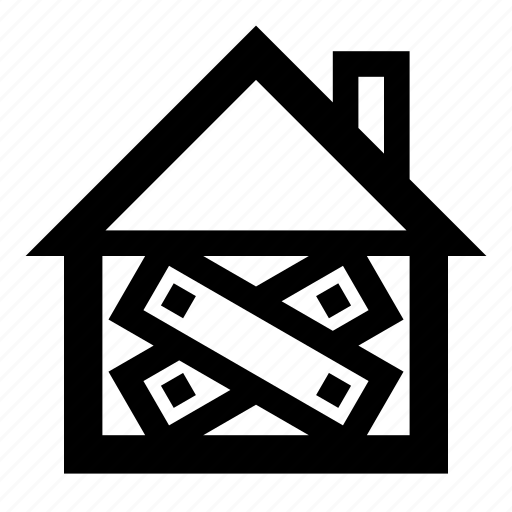 abandoned, closed, home, house, property icon