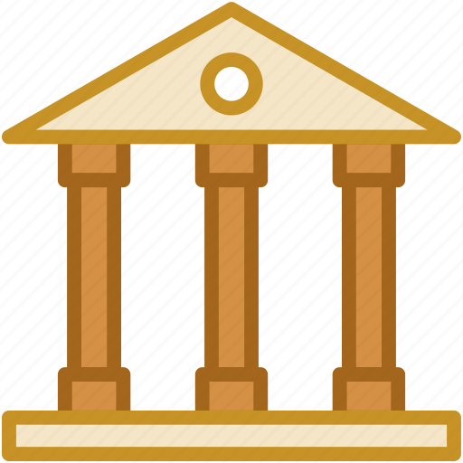 bank, building, court, courthouse, institute icon