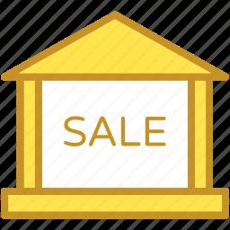 commercial sign, sale, sale info, sale notice, sale sign icon