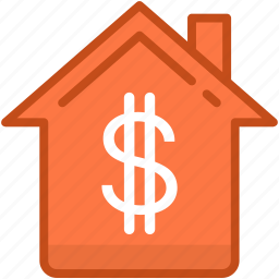 building, dollar, house price, house value, real estate icon