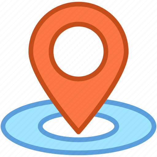 location marker, location pin, location pointer, map pin, navigation icon