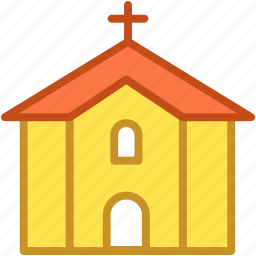 chapel, christianity, church, religious, religious building icon