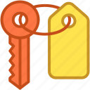 access, door key, house key, key, passkey icon