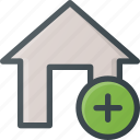 add, apartment, home, house, real, setate icon