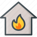apartment, fire, home, house, real, setate