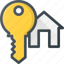 apartment, home, house, key, real, setate icon