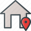 apartment, geolocation, home, house, location, real, setate icon