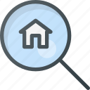 apartment, home, house, real, search, setate icon