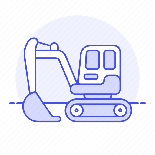 1, building, construction, equipment, estate, excavator, heavy, machine, real, site, tools icon