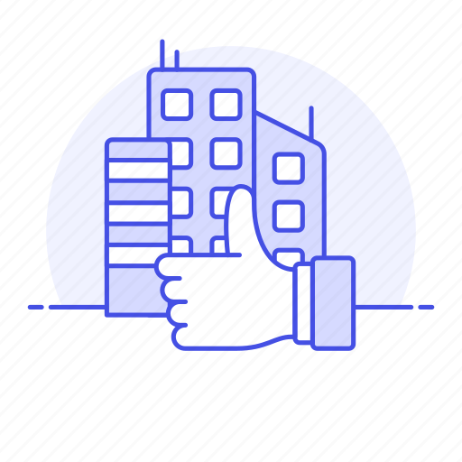 1, apartment, building, construction, estate, good, hand, property, rating, real, signal, thumb, up icon