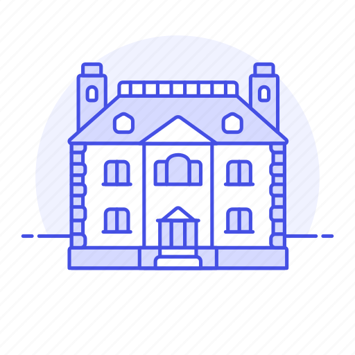 chimney, construction, dwelling, estate, home, house, houses, housing, living, mansion, real, space, story icon