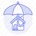 construction, estate, house, housing, insurance, private, property, real, residence icon