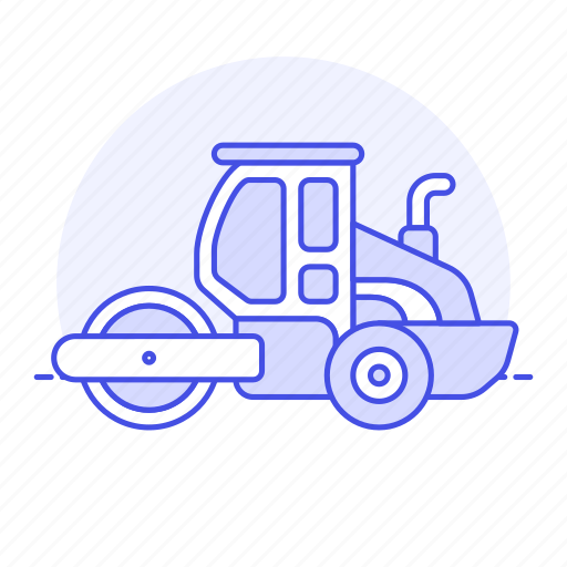 building, construction, equipment, estate, heavy, machine, real, roller, site, tools, truck icon