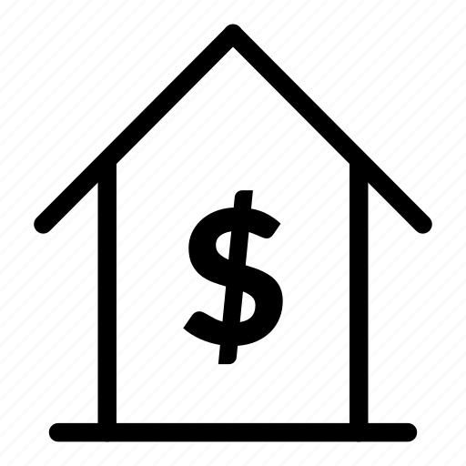 dollar, house discount, house price icon