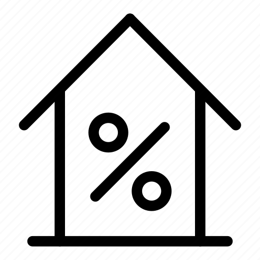 discount, house discount, offer, sale offer icon