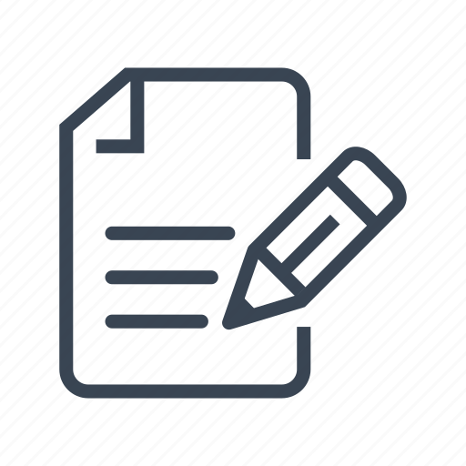 contract, deed, lease, sign, write icon