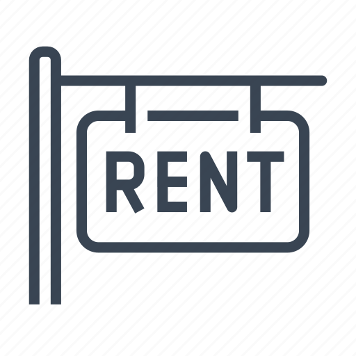 for, home, house, real estate, rent, sign icon