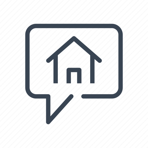 chat, discussion, home, house, talk icon