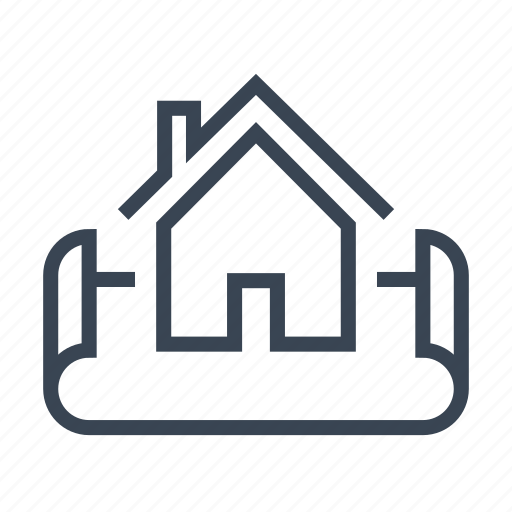 architect, blueprint, home, house, plan icon