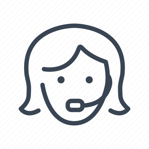 customer, operator, service, support icon