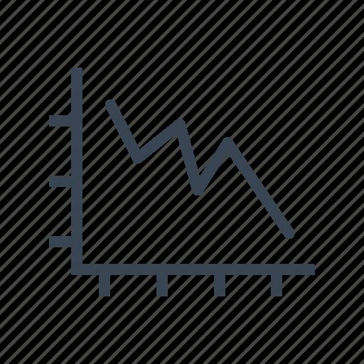chart, decrease, falling, graph, market, real estate icon