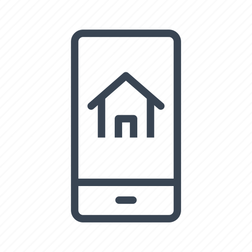 home, house, mobile, online, phone, real estate icon