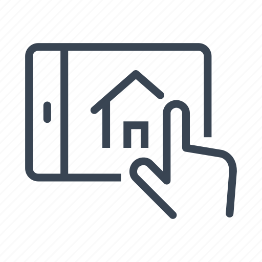home, house, online, real estate, rent, tablet icon