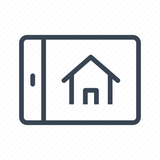 home, house, online, real estate, tablet, website icon