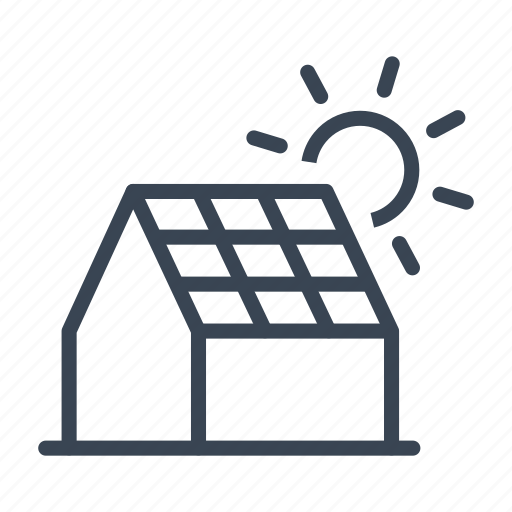 Ecology, energy, house, panel, solar, sun icon - Download on Iconfinder