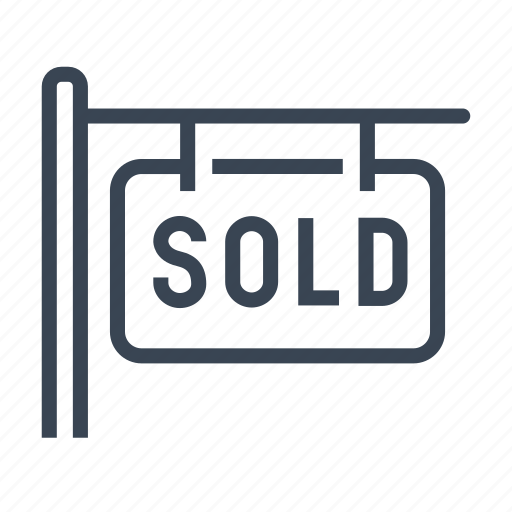 House, home, sold, sign, real estate icon