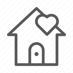 building, construction, house, love, real estate icon