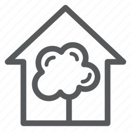 building, construction, house, real estate, tree icon