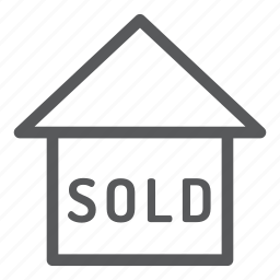 building, construction, real estate, sold icon