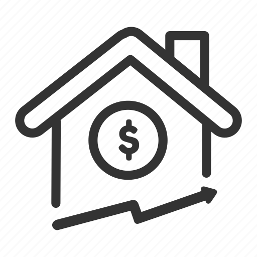 Business, estate, house, price, real, up icon - Download on Iconfinder
