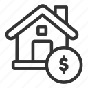 business, estate, house, real, sell icon