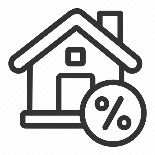 business, discount, estate, property, real icon