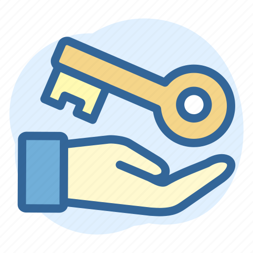 Business, estate, giving, key, real icon - Download on Iconfinder