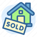 real, business, estate, house, sold, sign, property