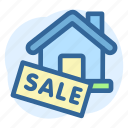 business, estate, property, real, sale, sign icon