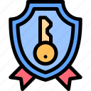 house, property, real estate, shield icon